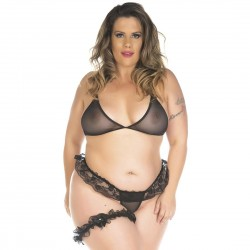 Kit Mini Fantasia Plus Size Conjunto Sexy - Pimenta Sexy