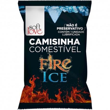 Camisinha Comestível Funcional Fire & Ice - Soft Love