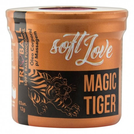 Magic Tiger Triball Soft Ball Funcional 3un - Soft Love