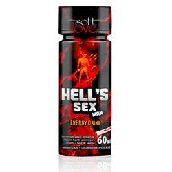Hells Sex Man Energy Drink Masculino 60ml - Soft Love