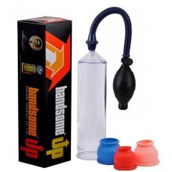 Bomba Peniana Manual com pera e controle de sucção - HANDSOME - VipMix
