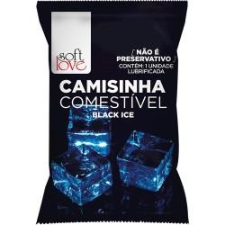 Camisinha Comestível Black Ice Para Sexo Oral - Soft Love