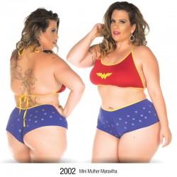 Mini Fantasia Plus Size Mulher Maravilha - Pimenta Sexy