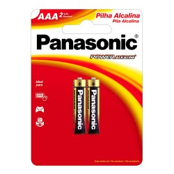 Pilha Panasonic alcalina AAA (Palito) 1,5V Cartela c/ 2 und. - Panasonic