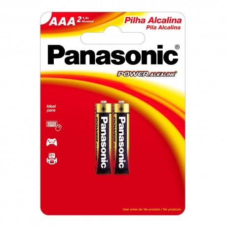 Pilha Panasonic alcalina AAA 1,5V Cartela c/ 2 und. - Panasonic