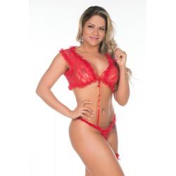 Conjunto Sensual em renda Bolero - Pimenta Sexy