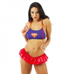 Kit Mini Fantasia Super Girl - Pimenta Sexy