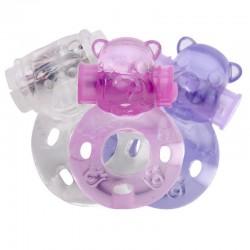 Anel Peniano com Estimulador Formato Urso e Cápsula Vibratória - VipMix