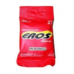 Preservativo Eros Premium aroma Morango - Eros