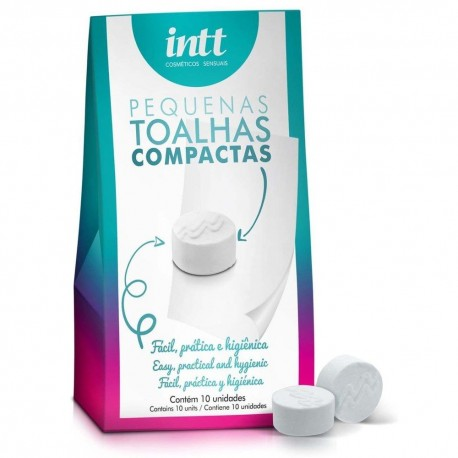 Kit 10 Toalhas Compactas - Intt