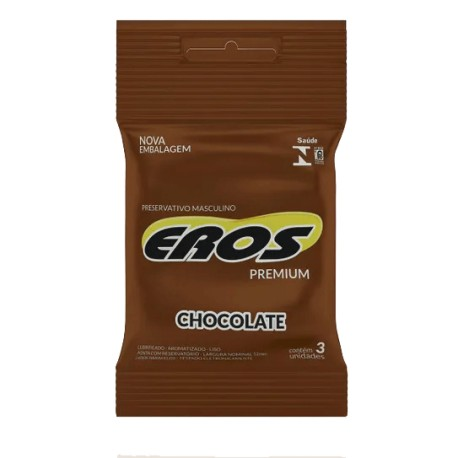 Preservativo Eros Premium aroma Chocolate - Eros