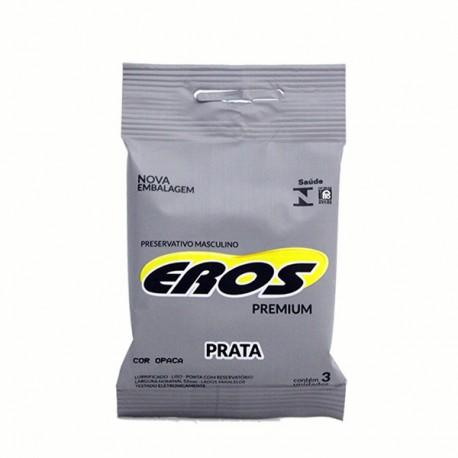 Preservativo Eros Premium aroma Prata - Eros