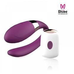 Vibrador para casais com controle wireless, recarregável - VipMix