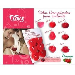 Velas Aromatizadas Para Ambiente 6 und - Love Yes