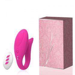 Vibrador Recarregável para Casais com Controle Wireless e 12 Modos de Vibração - Importado