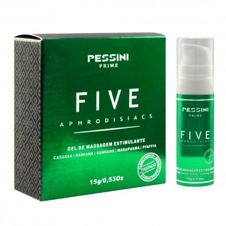 Five óleo Afrodisiáco Estimulante 15g - Pessini