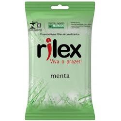 Preservativo Lubrificado com Aroma de Menta 3 Unidades - Rilex