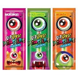Dip Loko Monsters Sabores + Neon Pirulito Fluorescente 10g - Danilla Foods