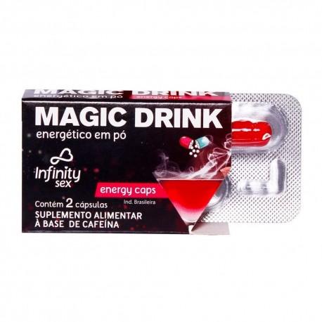 Magic Drink Energético em Pó com 2 Cápsulas - Infinity Sex